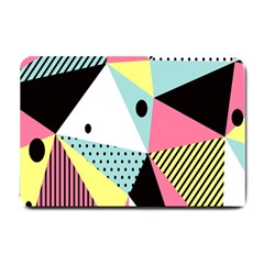 Geometric Polka Triangle Dots Line Small Doormat  by Mariart