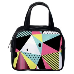 Geometric Polka Triangle Dots Line Classic Handbags (one Side) by Mariart