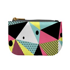 Geometric Polka Triangle Dots Line Mini Coin Purses