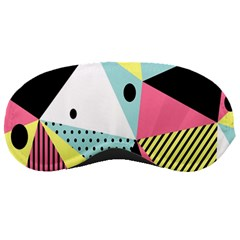 Geometric Polka Triangle Dots Line Sleeping Masks by Mariart