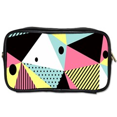 Geometric Polka Triangle Dots Line Toiletries Bags 2 Side by Mariart