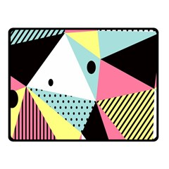 Geometric Polka Triangle Dots Line Fleece Blanket (small) by Mariart
