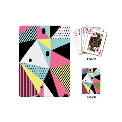 Geometric Polka Triangle Dots Line Playing Cards (mini)  by Mariart