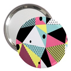 Geometric Polka Triangle Dots Line 3  Handbag Mirrors by Mariart