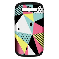 Geometric Polka Triangle Dots Line Samsung Galaxy S Iii Hardshell Case (pc+silicone) by Mariart