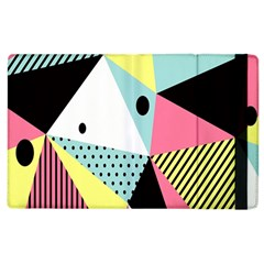 Geometric Polka Triangle Dots Line Apple Ipad 2 Flip Case by Mariart
