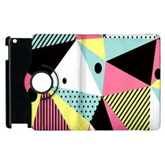 Geometric Polka Triangle Dots Line Apple Ipad 3/4 Flip 360 Case by Mariart