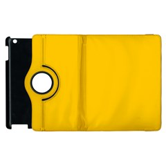 Amber Solid Color  Apple Ipad 3/4 Flip 360 Case by SimplyColor