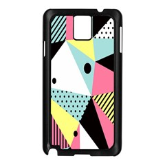 Geometric Polka Triangle Dots Line Samsung Galaxy Note 3 N9005 Case (black) by Mariart