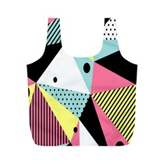 Geometric Polka Triangle Dots Line Full Print Recycle Bags (m)  by Mariart