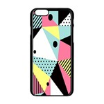 Geometric Polka Triangle Dots Line Apple iPhone 6/6S Black Enamel Case Front