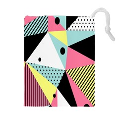 Geometric Polka Triangle Dots Line Drawstring Pouches (extra Large)