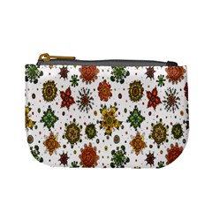 Flower Floral Sunflower Rose Pattern Base Mini Coin Purses