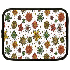 Flower Floral Sunflower Rose Pattern Base Netbook Case (xxl)  by Mariart