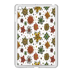Flower Floral Sunflower Rose Pattern Base Apple Ipad Mini Case (white) by Mariart