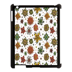 Flower Floral Sunflower Rose Pattern Base Apple Ipad 3/4 Case (black) by Mariart
