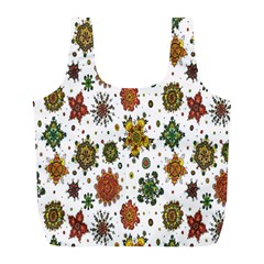 Flower Floral Sunflower Rose Pattern Base Full Print Recycle Bags (l)