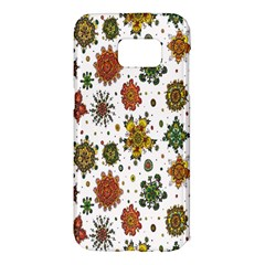 Flower Floral Sunflower Rose Pattern Base Samsung Galaxy S7 Edge Hardshell Case by Mariart