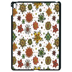 Flower Floral Sunflower Rose Pattern Base Apple Ipad Pro 9 7   Black Seamless Case