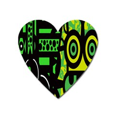 Half Grower Banner Polka Dots Circle Plaid Green Black Yellow Heart Magnet by Mariart