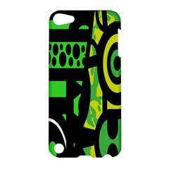 Half Grower Banner Polka Dots Circle Plaid Green Black Yellow Apple Ipod Touch 5 Hardshell Case by Mariart