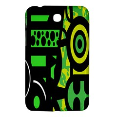 Half Grower Banner Polka Dots Circle Plaid Green Black Yellow Samsung Galaxy Tab 3 (7 ) P3200 Hardshell Case  by Mariart