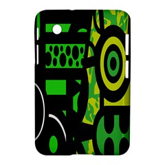 Half Grower Banner Polka Dots Circle Plaid Green Black Yellow Samsung Galaxy Tab 2 (7 ) P3100 Hardshell Case  by Mariart