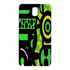 Half Grower Banner Polka Dots Circle Plaid Green Black Yellow Samsung Galaxy Note 3 N9005 Hardshell Back Case by Mariart