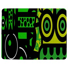 Half Grower Banner Polka Dots Circle Plaid Green Black Yellow Jigsaw Puzzle Photo Stand (rectangular) by Mariart