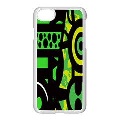 Half Grower Banner Polka Dots Circle Plaid Green Black Yellow Apple Iphone 7 Seamless Case (white) by Mariart