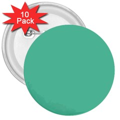 Aquamarine Solid Color  3  Buttons (10 Pack)  by SimplyColor