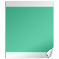 Aquamarine Solid Color  Canvas 8  X 10  by SimplyColor