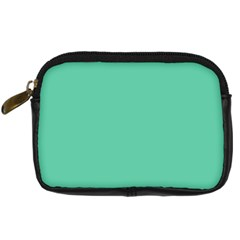 Aquamarine Solid Color  Digital Camera Cases by SimplyColor