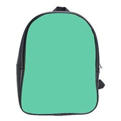 Aquamarine Solid Color  School Bags(large)  by SimplyColor