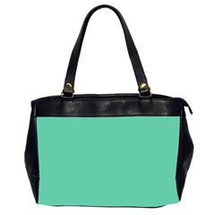 Aquamarine Solid Color  Office Handbags (2 Sides)  by SimplyColor