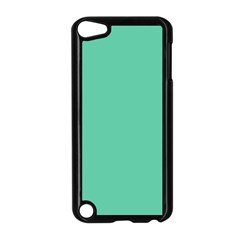 Aquamarine Solid Color  Apple Ipod Touch 5 Case (black) by SimplyColor