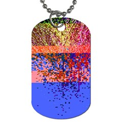 Glitchdrips Shadow Color Fire Dog Tag (one Side) by Mariart