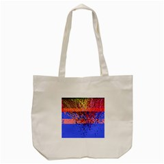 Glitchdrips Shadow Color Fire Tote Bag (cream) by Mariart