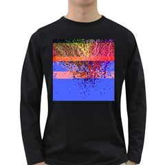 Glitchdrips Shadow Color Fire Long Sleeve Dark T Shirts