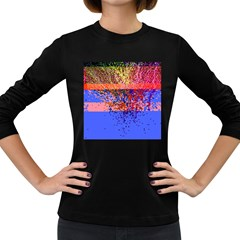 Glitchdrips Shadow Color Fire Women s Long Sleeve Dark T Shirts by Mariart