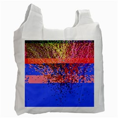 Glitchdrips Shadow Color Fire Recycle Bag (two Side)  by Mariart