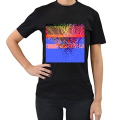 Glitchdrips Shadow Color Fire Women s T Shirt (black) by Mariart