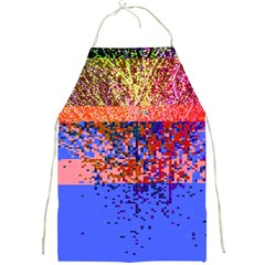 Glitchdrips Shadow Color Fire Full Print Aprons by Mariart