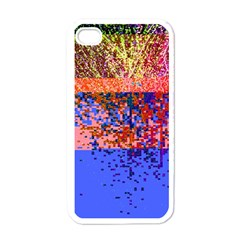 Glitchdrips Shadow Color Fire Apple Iphone 4 Case (white) by Mariart