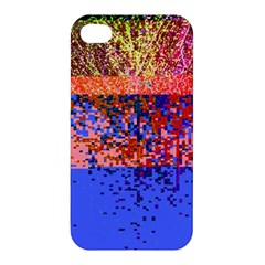 Glitchdrips Shadow Color Fire Apple Iphone 4/4s Premium Hardshell Case by Mariart