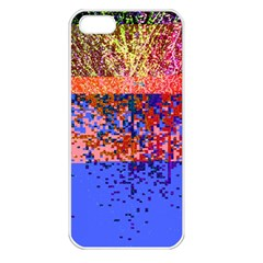 Glitchdrips Shadow Color Fire Apple Iphone 5 Seamless Case (white) by Mariart