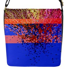 Glitchdrips Shadow Color Fire Flap Messenger Bag (s) by Mariart