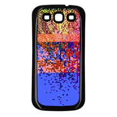 Glitchdrips Shadow Color Fire Samsung Galaxy S3 Back Case (black) by Mariart