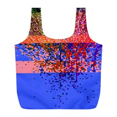 Glitchdrips Shadow Color Fire Full Print Recycle Bags (l)  by Mariart
