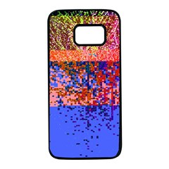 Glitchdrips Shadow Color Fire Samsung Galaxy S7 Black Seamless Case by Mariart